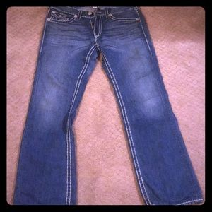 Barley used true religion jeans 34x32